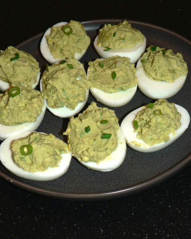 Avocado Deviled Eggs No Mayo