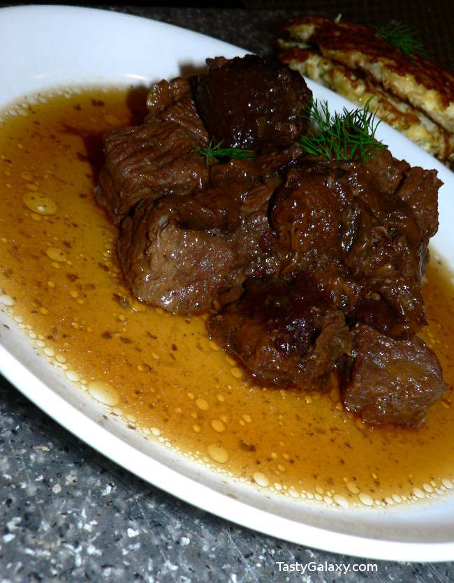Pressure Cooker Beef Stew with Mushrooms | DadCooksDinner.com