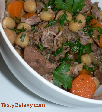 Mouthwatering {and Healthy!!} Valentine's Dinner Recipes | Kara's Party Ideas | Lamb and Chickpea Stew | TastyGalaxy.com